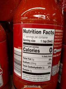Burman's Hot Sauce label