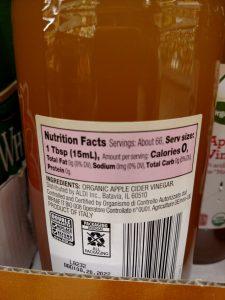Simply Nature Apple Cider Vinegar label