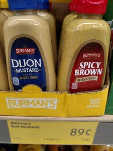 Burman's Dijon, Spicy Brown mustard