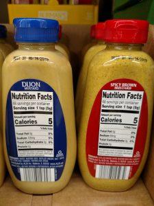 Burman's Dijon, Spicy Brown mustard label