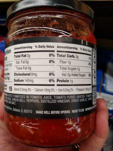 Specially Selected Specialty Salsa; Garlic  label