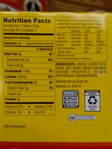 Appleton Farms Fully Cooked Bacon label