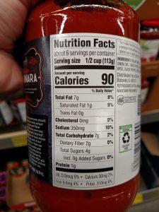 Specially Selected Premium Marinara Sauce label
