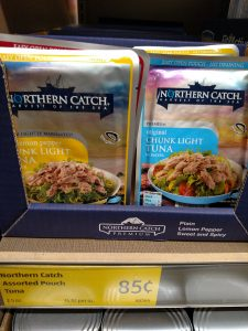 Northern Catch Chunk Light Tuna Original in Water foil pack or Lemon Pepper