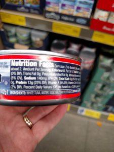 Northern Catch Solid White Tuna label