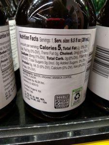 Barissimo Organic Cold Brew Coffee; Mocha, Vanilla or Guatemalan label