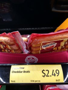 Parkview Cheddar Brats