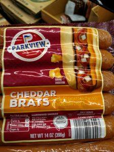 Parkview Cheddar Brats label