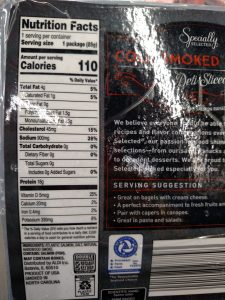 Specially Selected Cold Smoked Salmon label