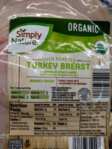 Simply Nature Organic Oven Roasted Turkey label