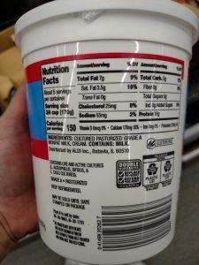 Friendly Farms Whole Milk Greek Yogurt  label