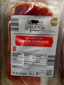 Appleton Farms Jamon Serrano label