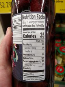 Specially Selected Kalamata Olives label