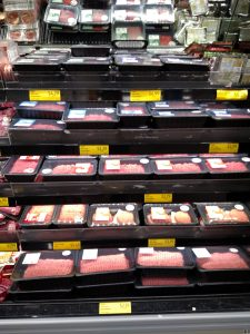 beef section of store