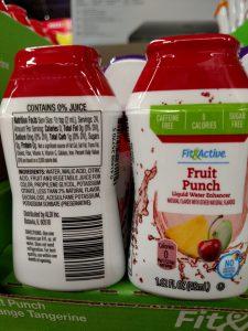 Fit & Active Liquid Water Enhancers fruit punch label