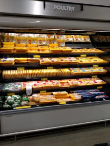 poultry section of store