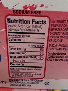 La Croix Flavored Water label