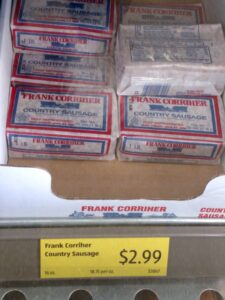 Frank Corriher Country Sausage