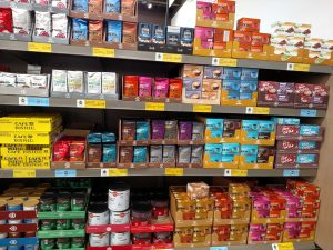Coffees and Teas on store shelves