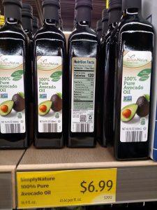 Simply Nature Avocado Oil on shelf