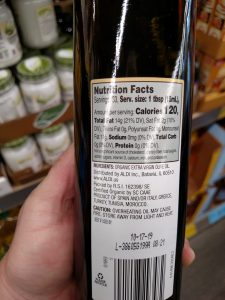 Simply Nature Avocado Oil label
