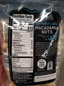 Specially Selected Roasted Salted Macadamias label