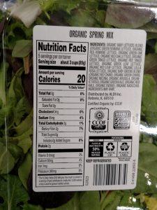 spring mix label