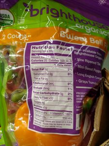 Bell Peppers label