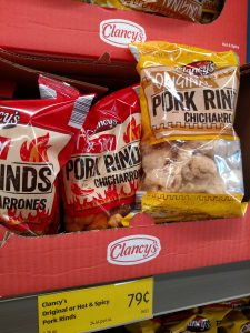 Clancy's Original Pork Rinds or Hot & Spicy