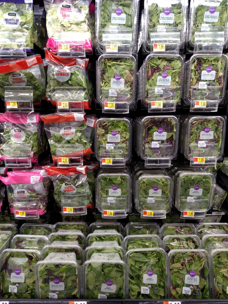 lettuce on store shelf
