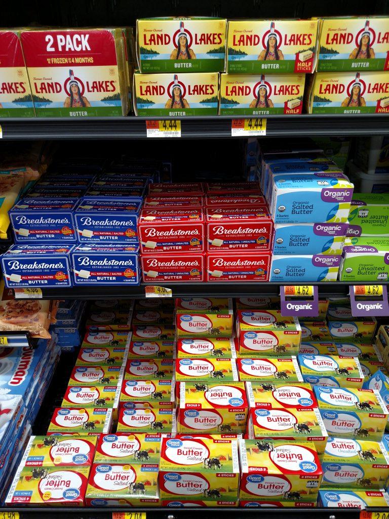 butter on store shelves