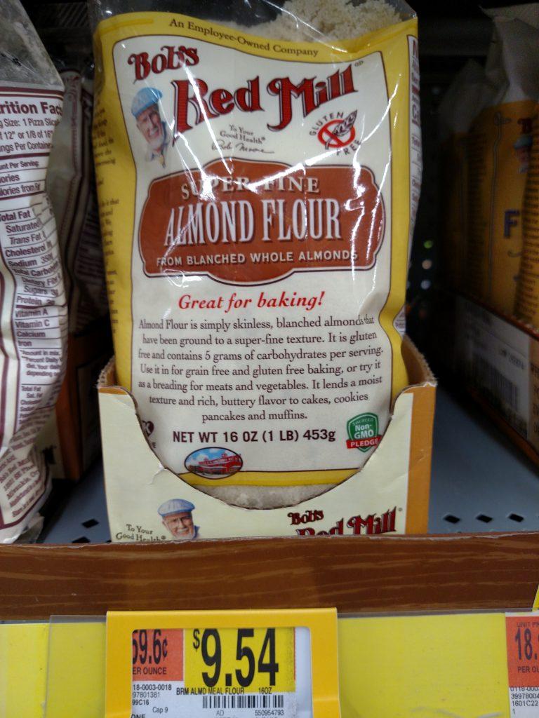 almond flour on store shelf