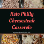 Keto Philly Cheesesteak Casserole collage