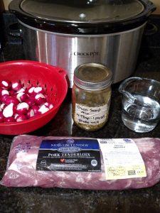 ingredients for Keto Pork Tenderloin with Radishes