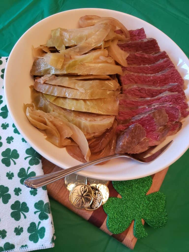 Low Carb Crock Pot Corned Beef and Cabbage