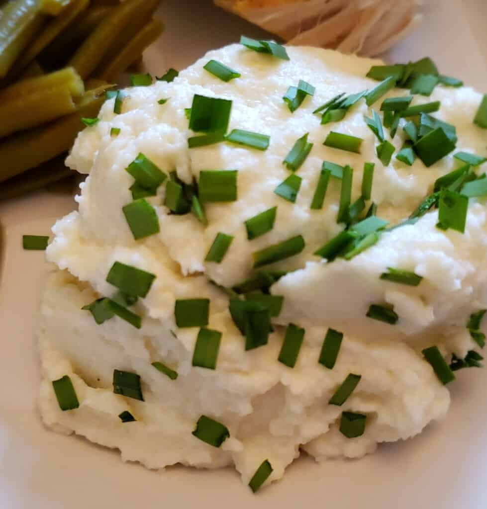 Keto Mashed Cauliflower Much Like Potatoes