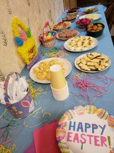 Easter buffet spread