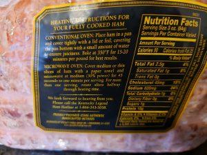 label on ham