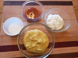 ingredients for Keto Spicy Sweet Mustard