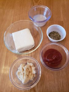 ingredients for Low Carb Zippy Horseradish Meat Sauce