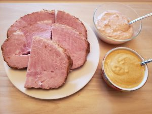 Keto Spicy Sweet Mustard with ham