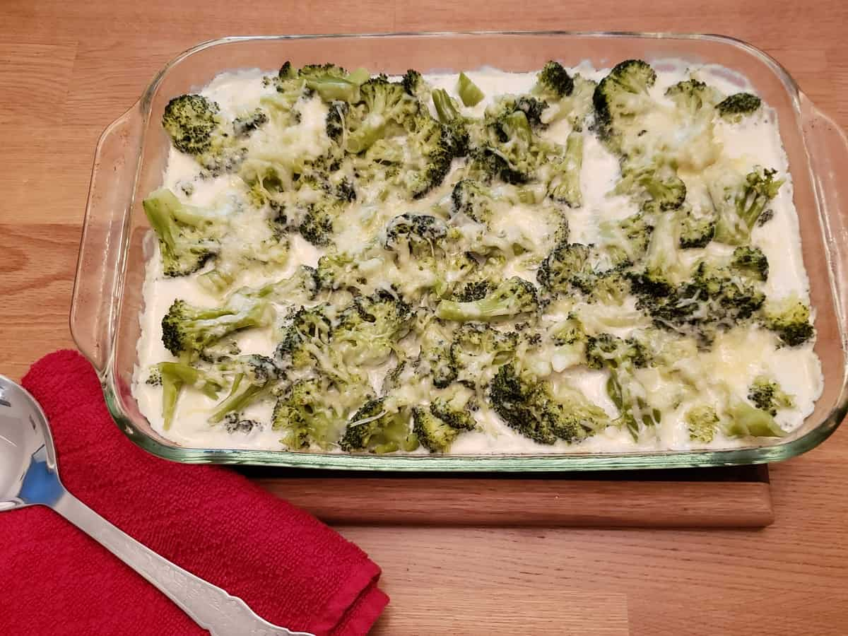 Low Carb Chicken Broccoli Alfredo Casserole