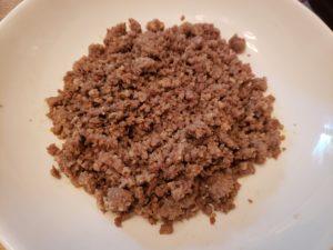 sausage in bowl