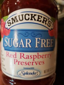 Smuckers sugar free raspberry preserves