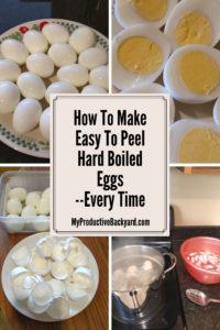 How to make easy to peel hard boiled eggs Pinterest pin