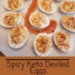 Spicy Keto Deviled Eggs Pinterest pin