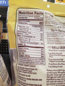 Coconut Flour label