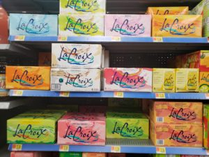 LaCroix cases on shelf in store