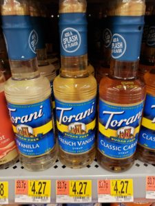 Torani Syrups on store shelf