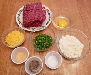 Ingredients for Low Carb Jalapeno Cheddar Burgers